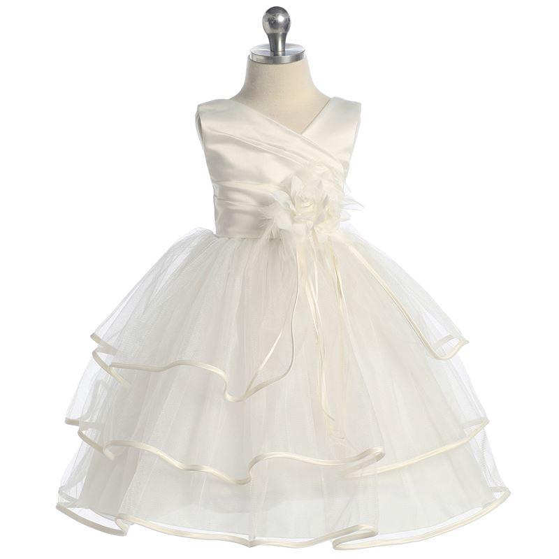 IVORY Flower Girl Dress Wedding Party Graduation Pageant Birthday Dance Prom