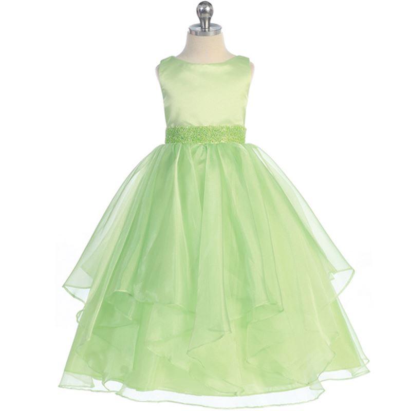 Lime Green Flower Girl Dresses Wedding Bridesmaid Formal Recital