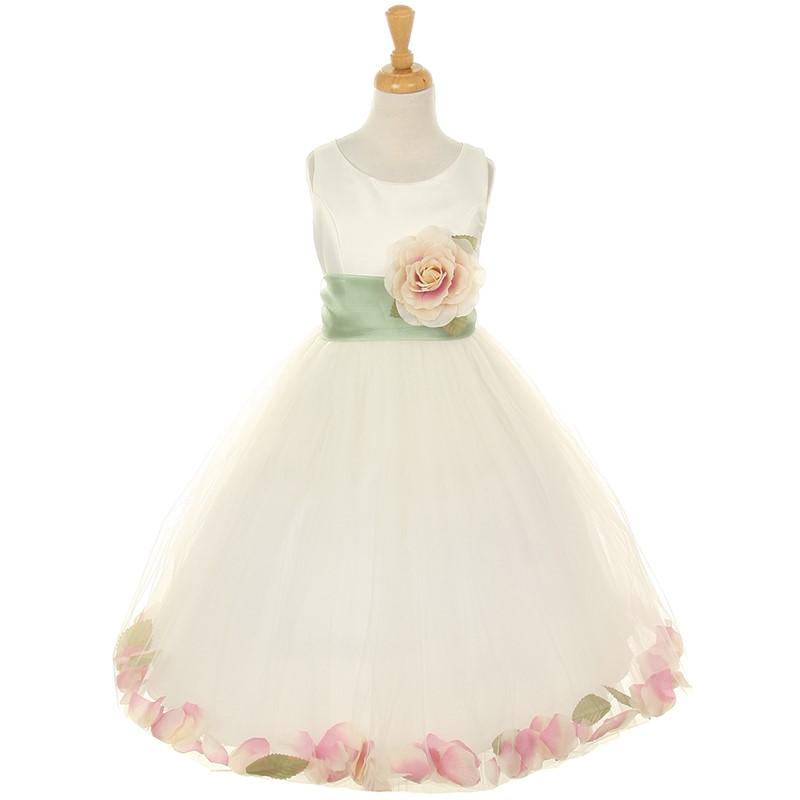 IVORY GOLD Flower Girl Dress Wedding Bridesmaid Formal Recital Graduation Party