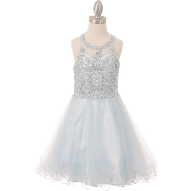 MINT Flower Girl Dress Recital Wedding Party Birthday Pageant Homecoming Prom